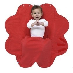 Wallaboo Otulacz Fleur Poppy Red