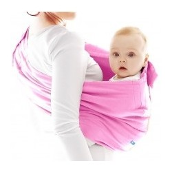 Regulowana chusta kieszonka do noszenia dzieci Wallaboo suede Pink