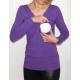 Bluzka przeplatana ciążowa/do karmienia NIMAR chaber