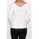 Bluzka przeplatana ciążowa/do karmienia NIMAR  biała