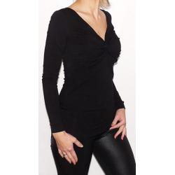 Bluzka przeplatana ciążowa/do karmienia NIMAR  czarna