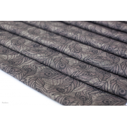 BABY WRAP, JACQUARD WEAVE  HEARTINESS FEATHERS NAVY