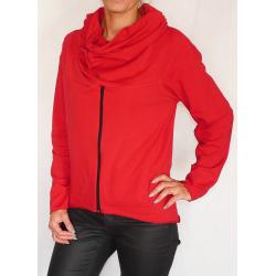 Bluza  ciążowa/dla dwojga z zamkiem NIMAR czerwona