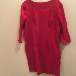 Sukienka ciążowa/do karmienia NIMAR rękaw 3/4 czerwona