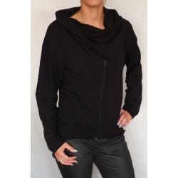 Bluza  ciążowa/dla dwojga z zamkiem NIMAR czarny