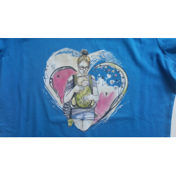 """T-shirt damski """"Wiosna"""" niebieski"""