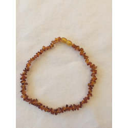 Amber teething necklace - dark
