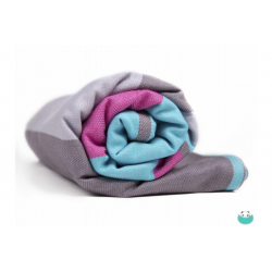 Pandabejbi Woven wrap - Mint Loves Light Grey