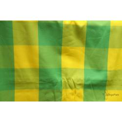 Bebina  Karo chusta tkana do noszenia dzieci krata zielono - żółta