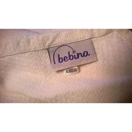 Żakardowa chusta tkana do noszenia dzieci Lennylamb Pióra turkus z białym