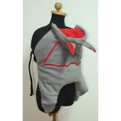Smocza osłonka do chusty/nosidła Skulart - czarno - czerwone