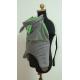 Smocza osłonka do chusty/nosidła Skulart - szaro - zielona