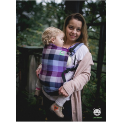 Baby carrier Lavender Evening (grid) - 100% cotton, weave cross twill, size Baby / Standard