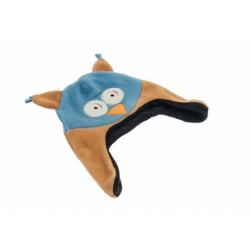 moncziczi - ciepła czapka pilotka - funny owl sowa