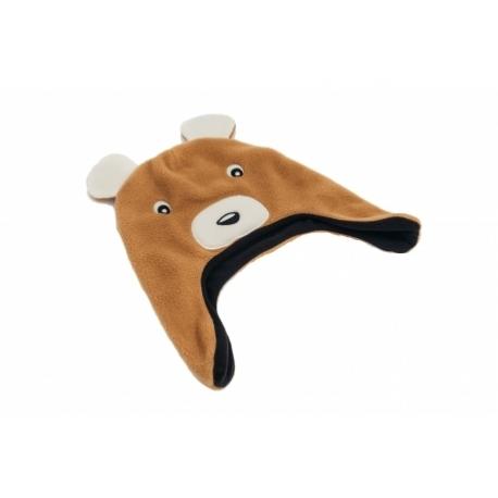 moncziczi - ciepła czapka pilotka - teddy bear