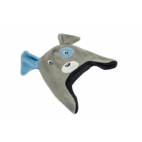 moncziczi - ciepła czapka pilotka - grey dog