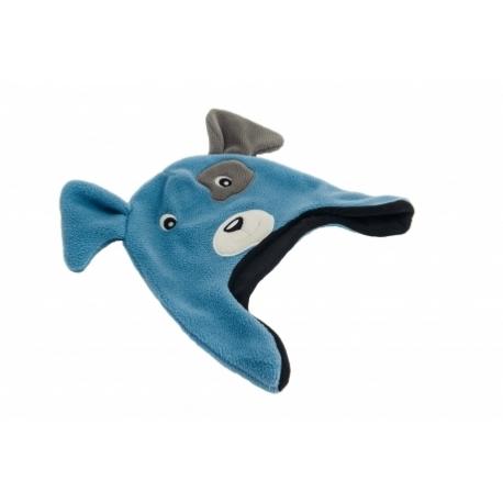 moncziczi - ciepła czapka pilotka - blue dog