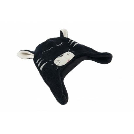 moncziczi - ciepła czapka pilotka - black cat