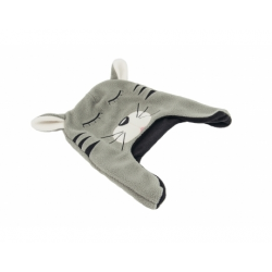 moncziczi - ciepła czapka pilotka - grey cat