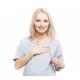 Cangaroo - Bluza ciążowa i do karmienia hoobart gray - bawełna, szary melanż, długa, oversize