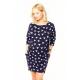 Cangaroo - Sukienka ciążowa / do karmienia clifton triangle - dresowa, bawełna,  długa, rękaw 3/4, kieszenie