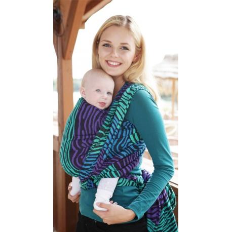 Żakardowa chusta tkana do noszenia dzieci Kokadi Zebra Seaside
