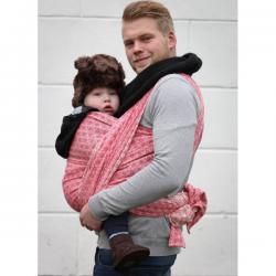 Żakardowa chusta tkana do noszenia dzieci Yaro Slings Basket Red