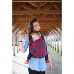 Żakardowa chusta tkana do noszenia dzieci Yaro Slings Ava Ultra Navy Red Bamboo Hemp
