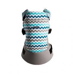 Nosidełko ergonomiczne – Zaffiro Care Blue Zigzag