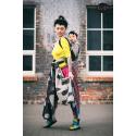 Żakardowa chusta  do noszenia dzieci Roar Mniam Mniam noir neon