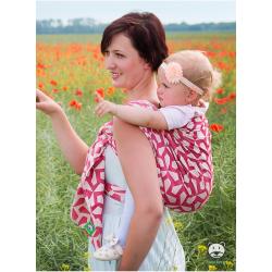 Chusta tkana do noszenia dzieci Luna dream MITSU Czerwień - 100% Bawełna, splot żakardowy