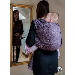 Chusta tkana do noszenia dzieci Luna dream Little Hearts Fiolet - 100% Bawełna, splot żakardowy