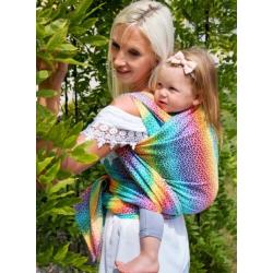 Luna Dream Wowen wrap Little Hearts Rainbow- 100% Cotton jacquard