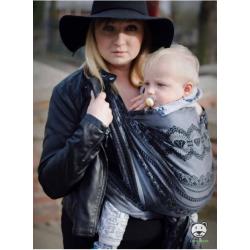 Chusta tkana do noszenia dzieci Luna dream LACE BLACK ELEGANCE - 100% Bawełna