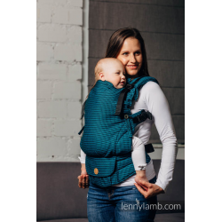 LennyUp Carrier, Standard Size, broken-twill weave 100% cotton - wrap conversion from Night