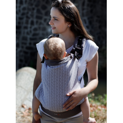 Adjustable Baby Carrier Multi Size:: Magic Summer (grid), 100% cotton, weave cross twill