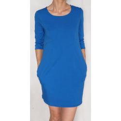 Sukienka ciążowa/do karmienia NIMAR rękaw 3/4 niebieska