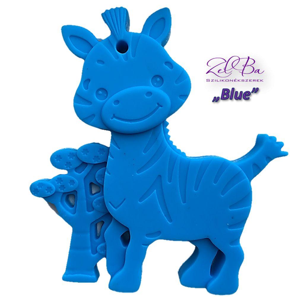 zebra niebieski